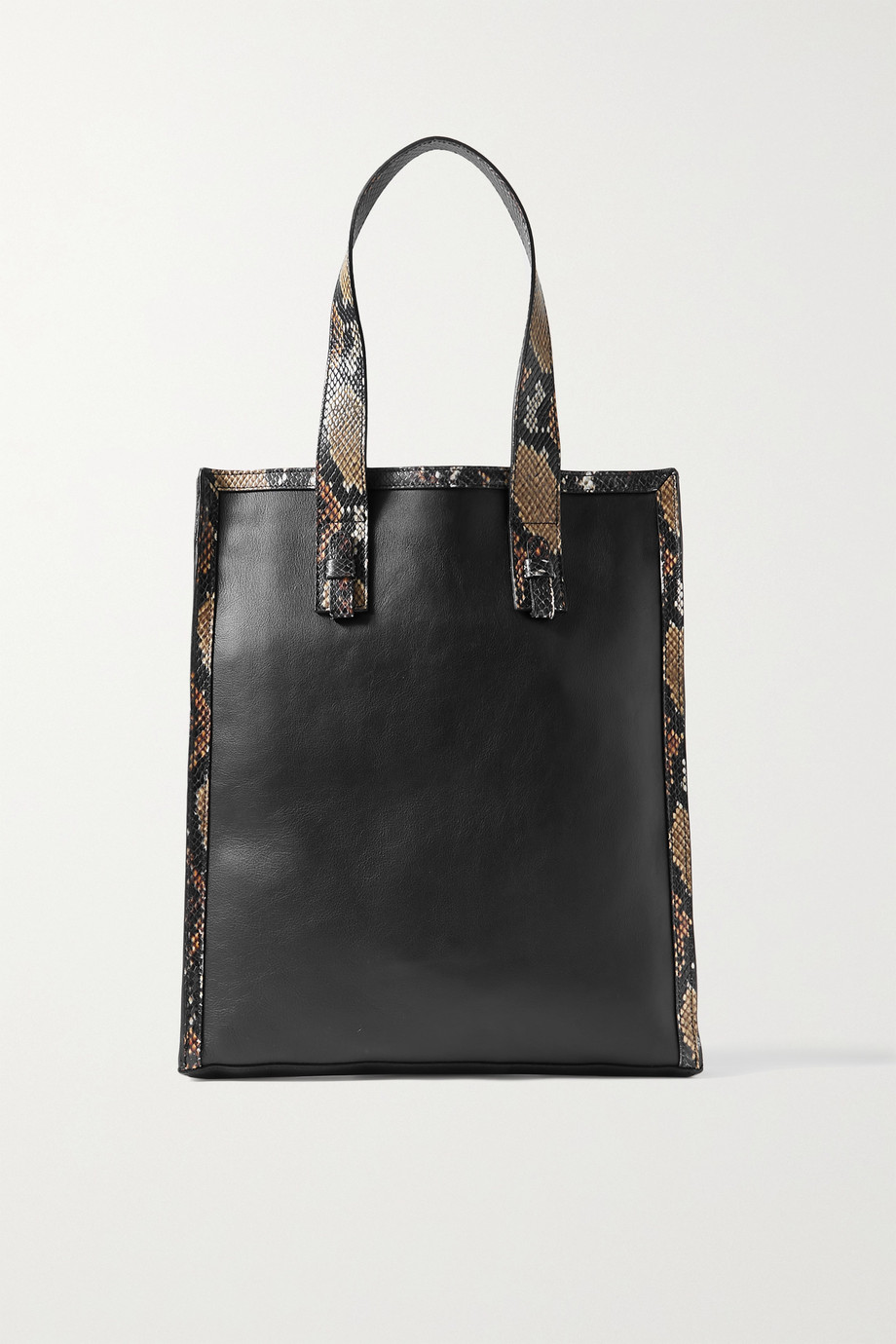 Ximena Kavalekas Adriana snake-effect and smooth leather tote