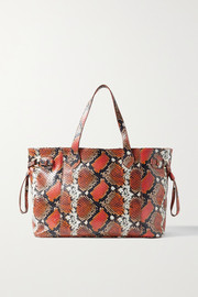 Ximena Kavalekas Barbara snake-effect leather tote