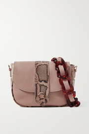 Ximena Kavalekas Kara snake-effect and smooth leather shoulder bag
