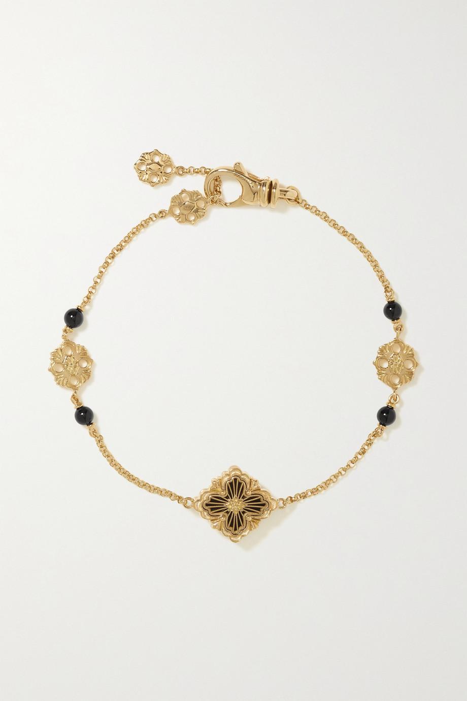 Buccellati Opera Tulle Armband aus 18 Karat Roségold mit Onyxen