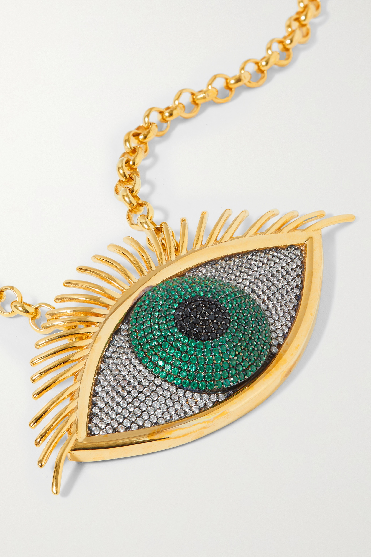 Begüm Khan Gold-plated crystal necklace