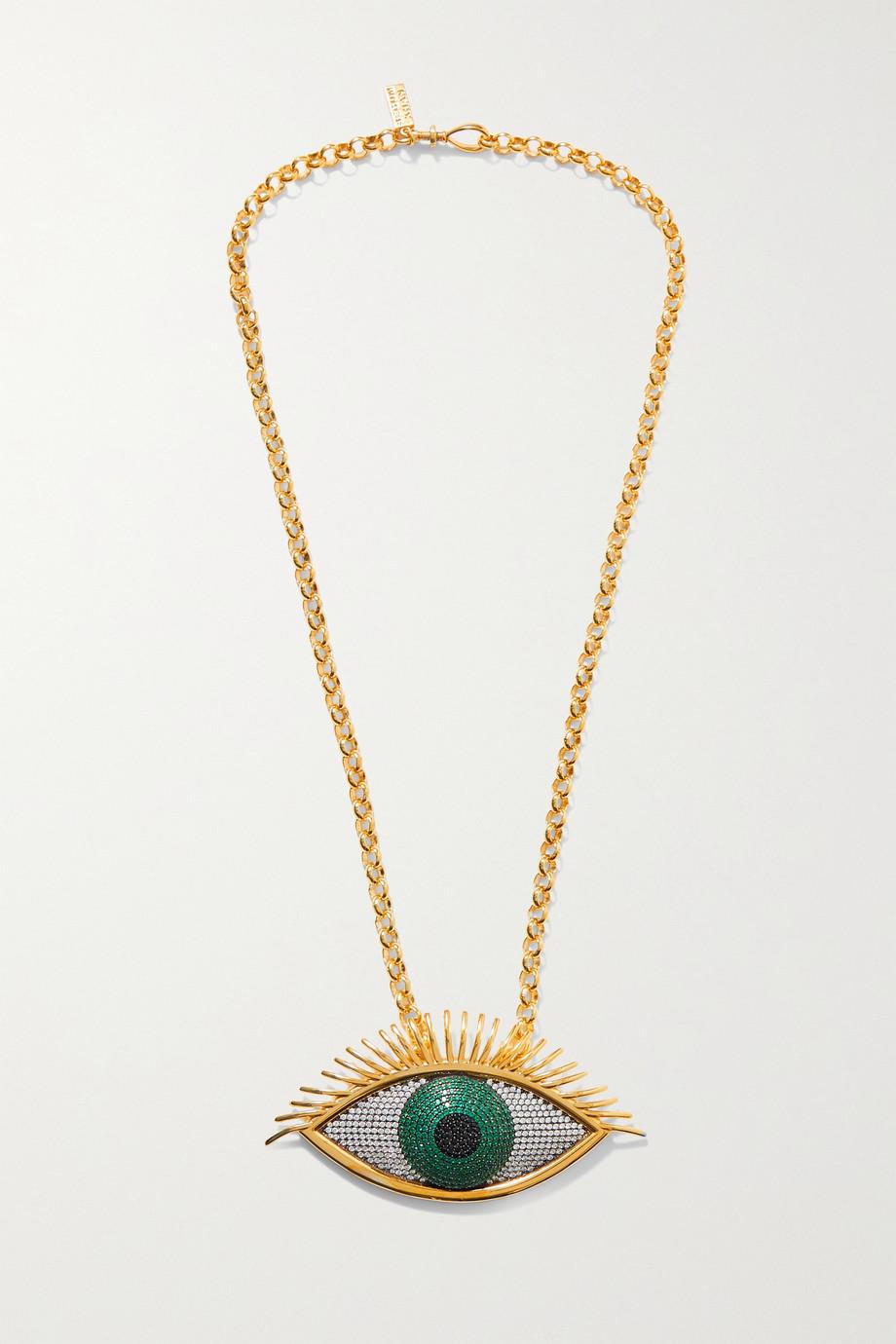 Begüm Khan Collier en plaqué or et cristaux