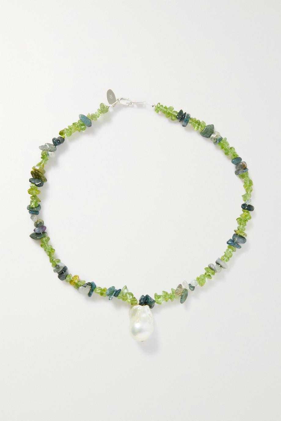 Santangelo Kitano silver multi-stone necklace