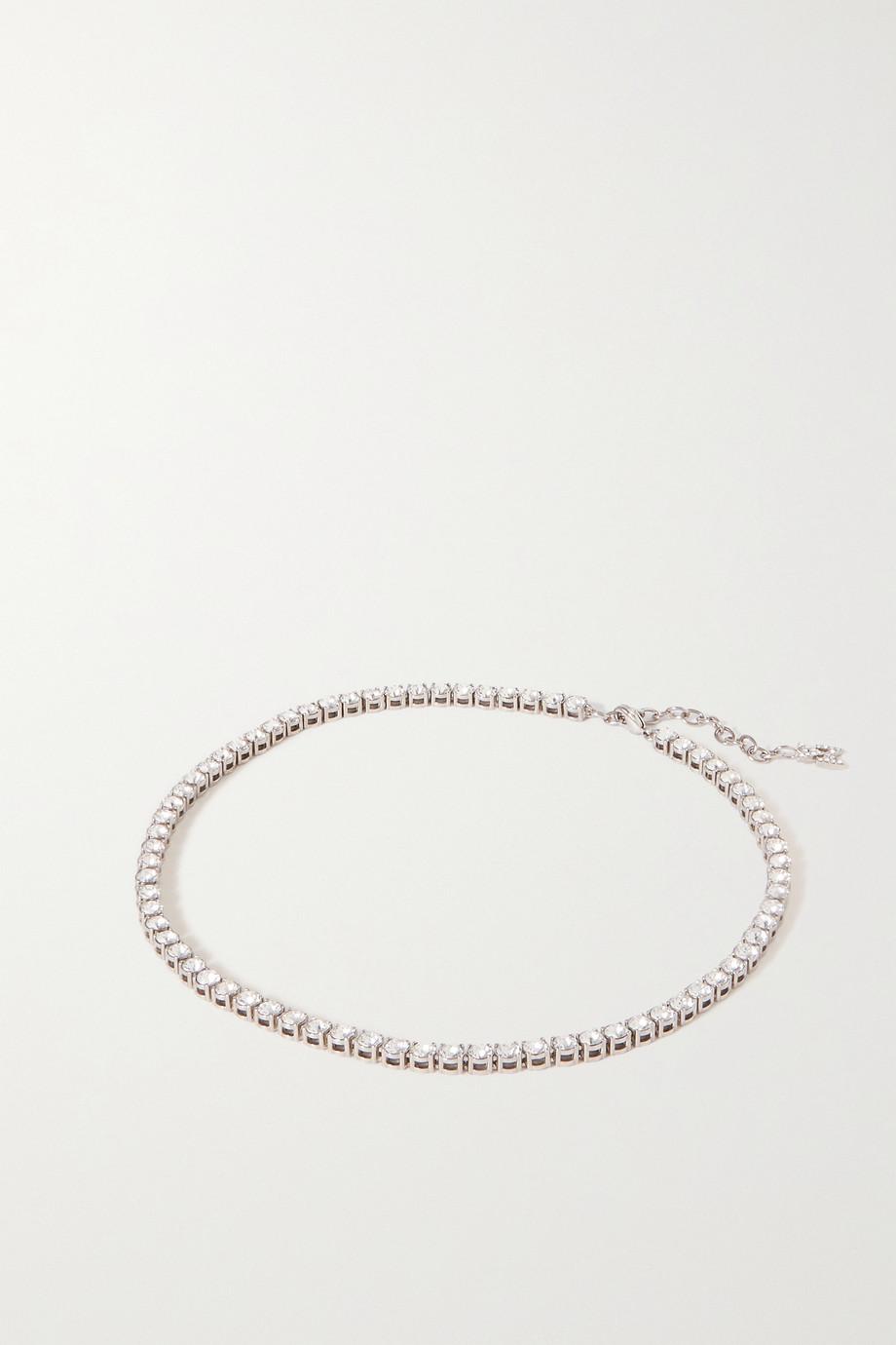 Amina Muaddi Silver-tone crystal necklace
