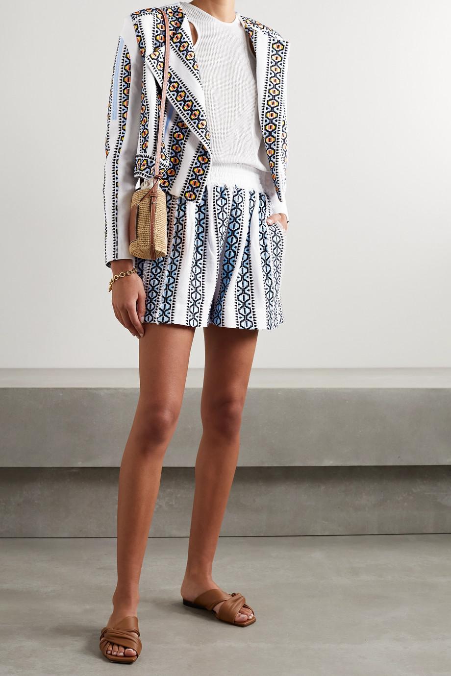 Rue Mariscal + NET SUSTAIN embroidered cotton jacket