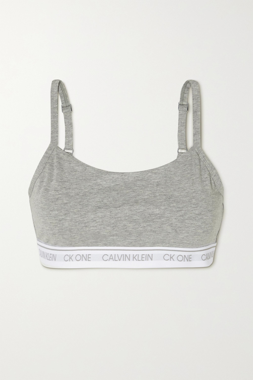 Calvin Klein Underwear CK One mélange stretch cotton and modal-blend soft-cup bra