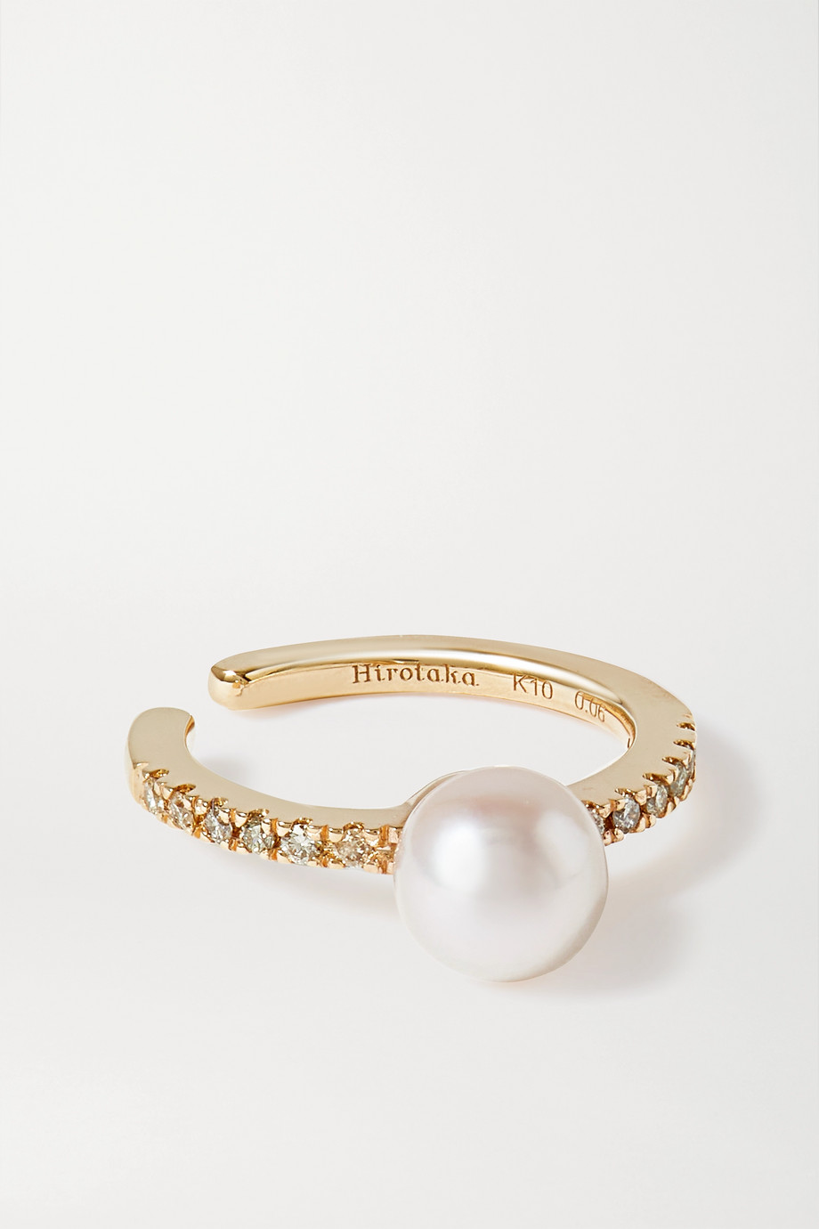 Hirotaka Gold, pearl and diamond ear cuff