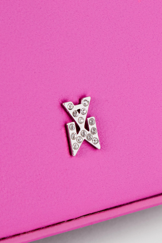 Amina Muaddi Sac à main en cuir à cristaux Gilda Super Mini
