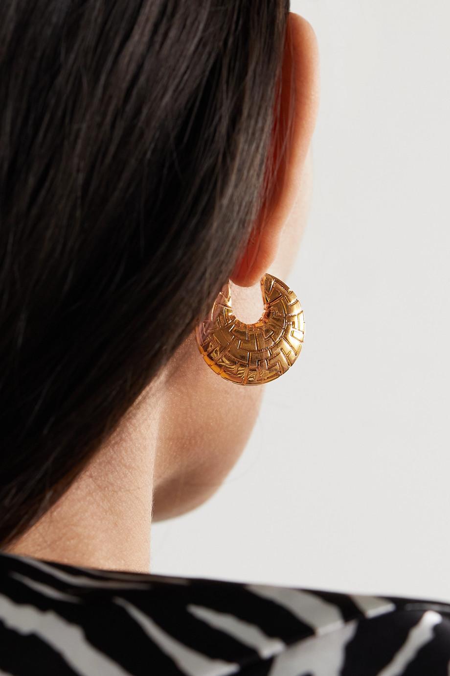 Leda Madera Boucles d'oreilles en plaqué or Geena