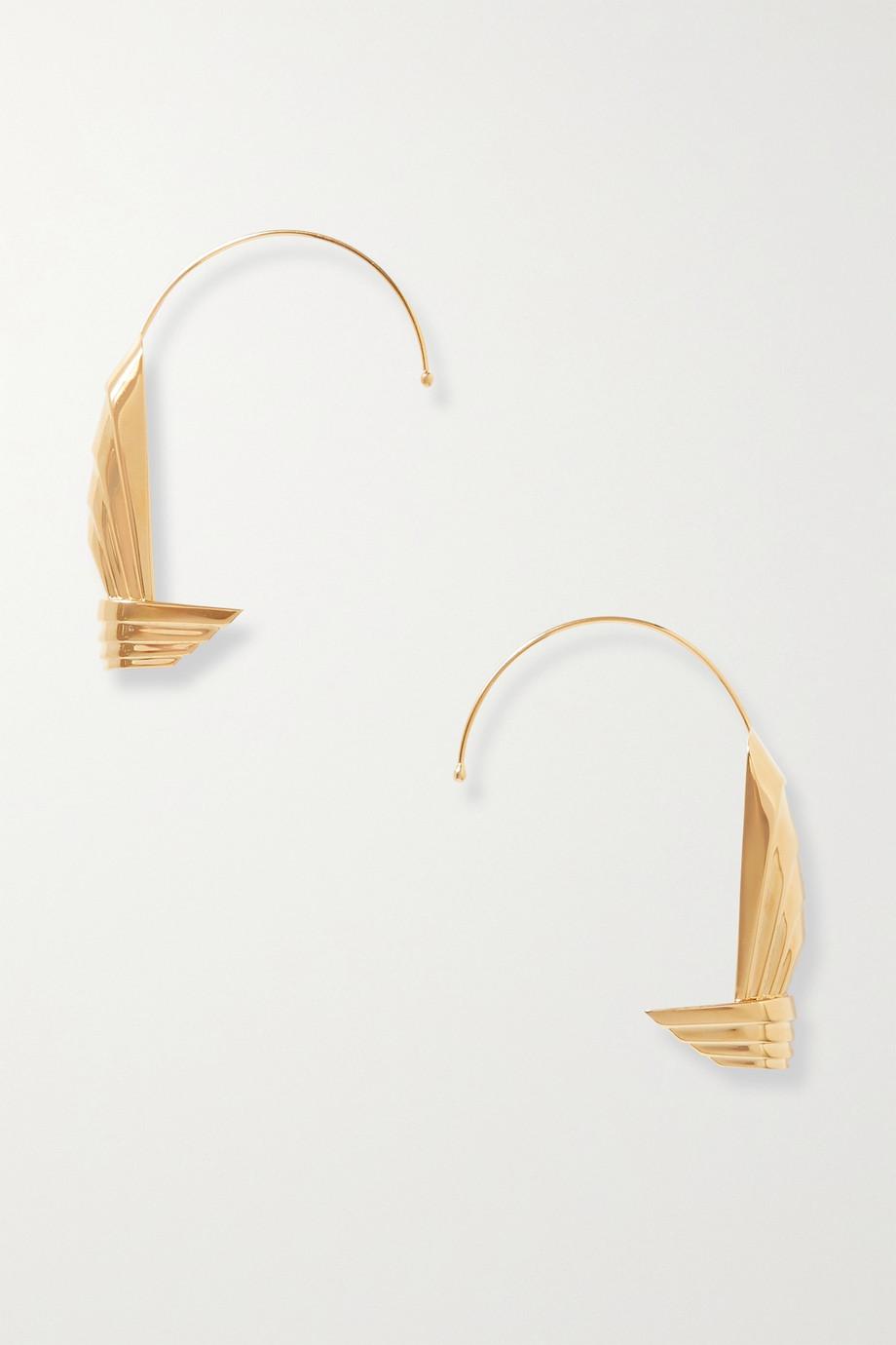 Leda Madera Boucles d'oreilles en plaqué or Susan