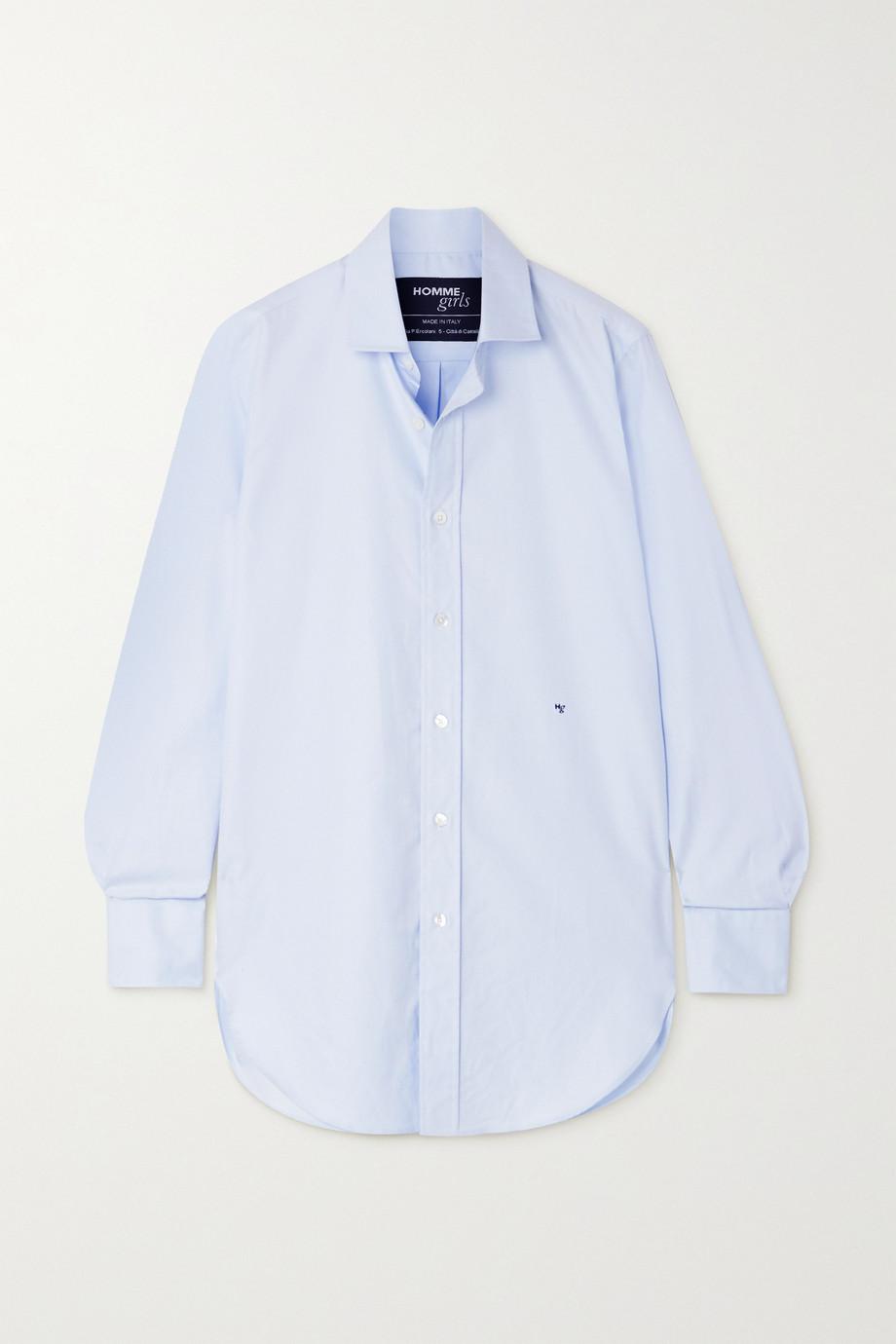 Hommegirls Embroidered cotton-poplin shirt