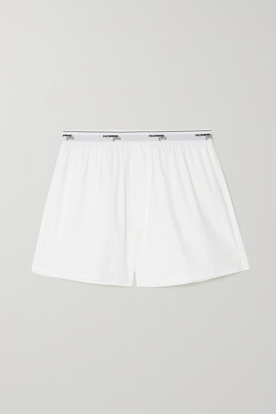 Hommegirls Cotton-poplin shorts