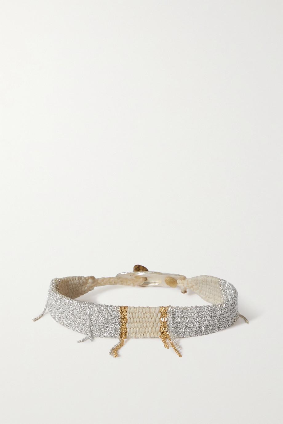 Katia Alpha Woven cord, gold vermeil and silver bracelet