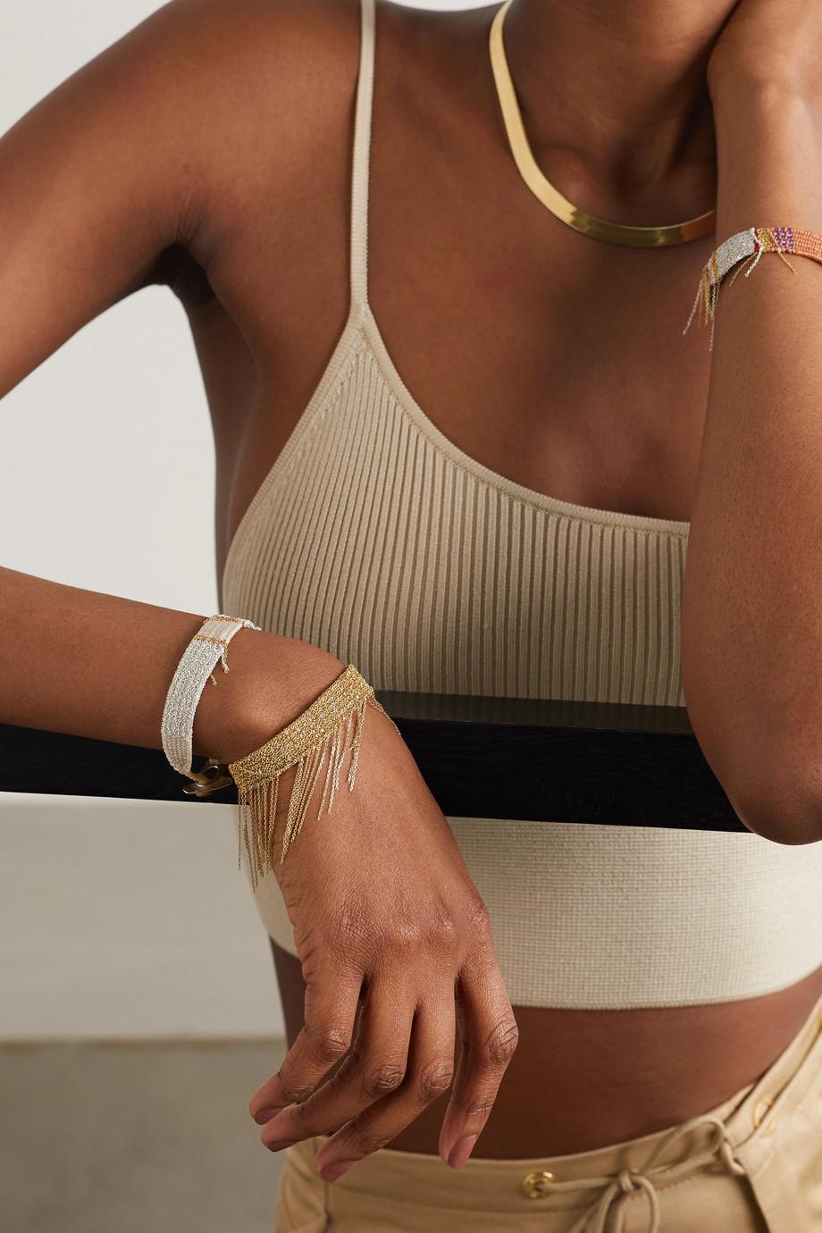 Katia Alpha Woven cord and gold vermeil bracelet