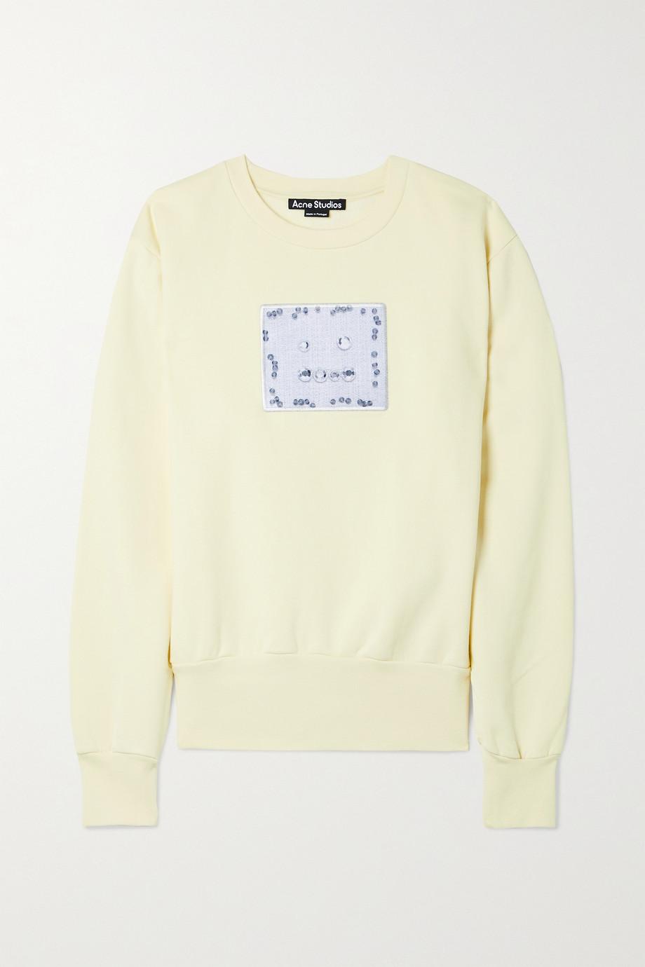 Acne Studios Sweatshirt aus Baumwoll-Jersey mit Applikation