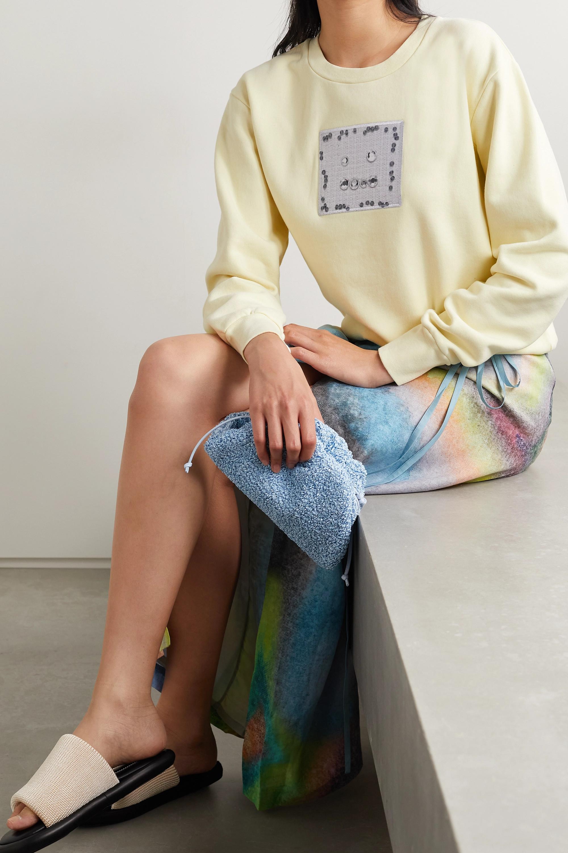 Acne Studios Appliquéd cotton-jersey sweatshirt