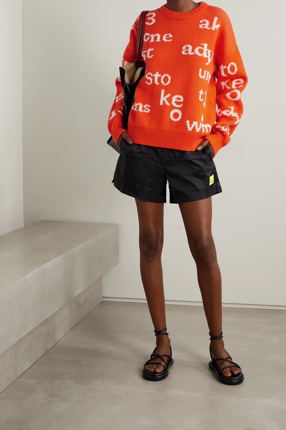 Acne Studios Appliquéd intarsia wool sweater