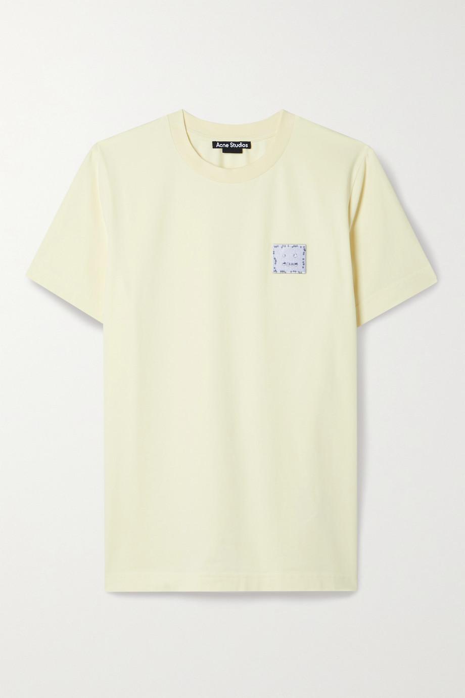 Acne Studios T-Shirt aus Baumwoll-Jersey mit Stretch-Anteil und Applikation