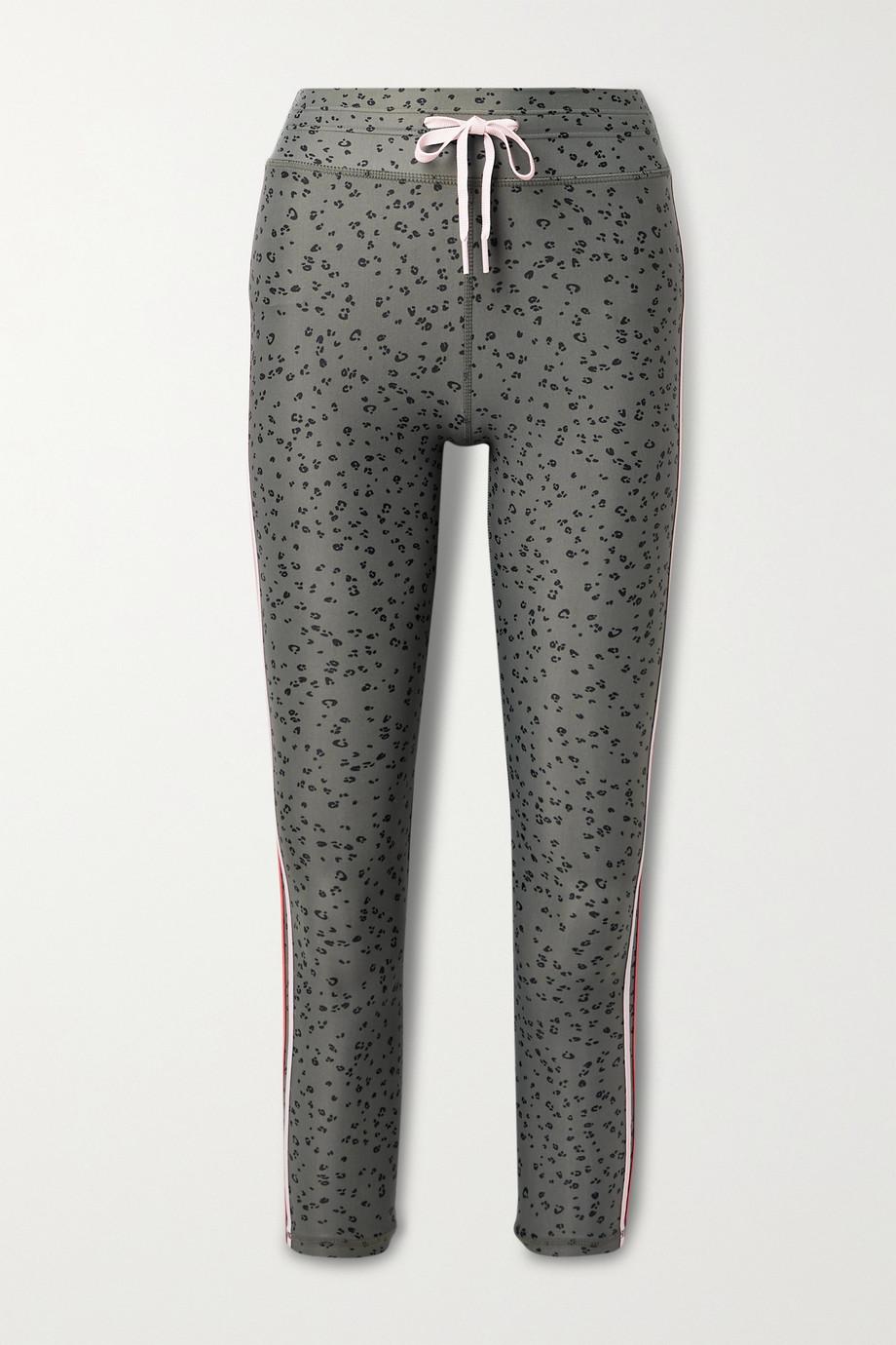 The Upside Striped leopard-print stretch leggings