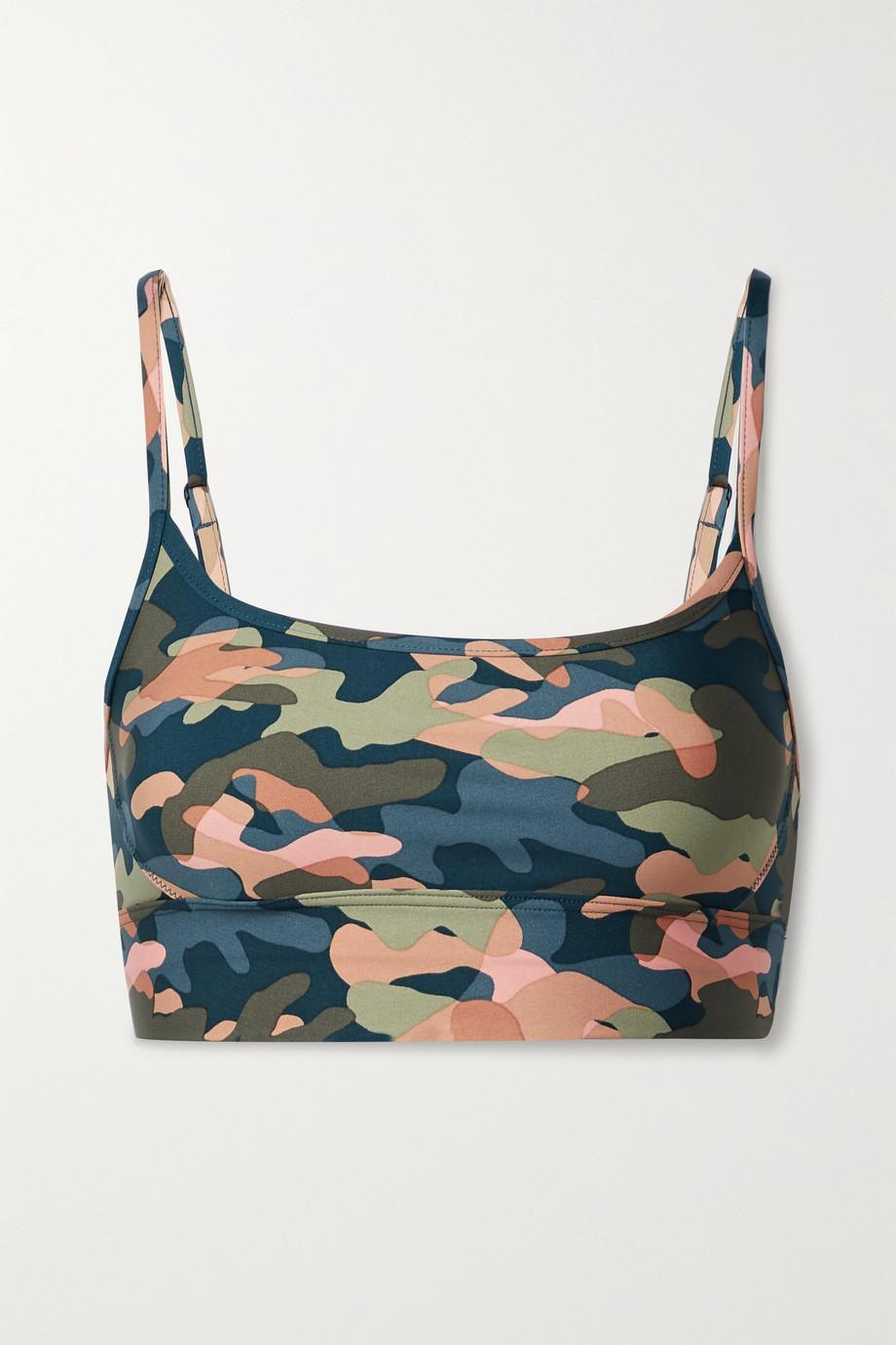 The Upside Himalaya camouflage-print stretch sports bra