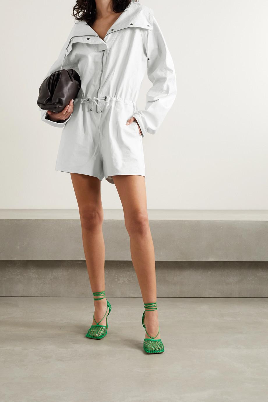 Dodo Bar Or Kaya ostrich-effect leather playsuit