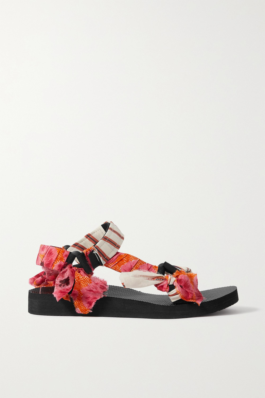 Arizona Love + Jason Wu Trekky printed cotton, gauze and canvas sandals