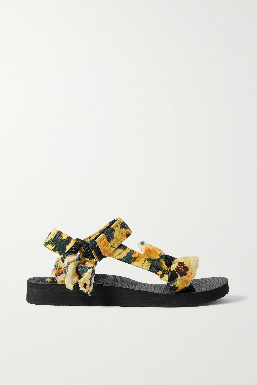 Arizona Love + Jason Wu Trekky floral-print gauze-trimmed canvas sandals