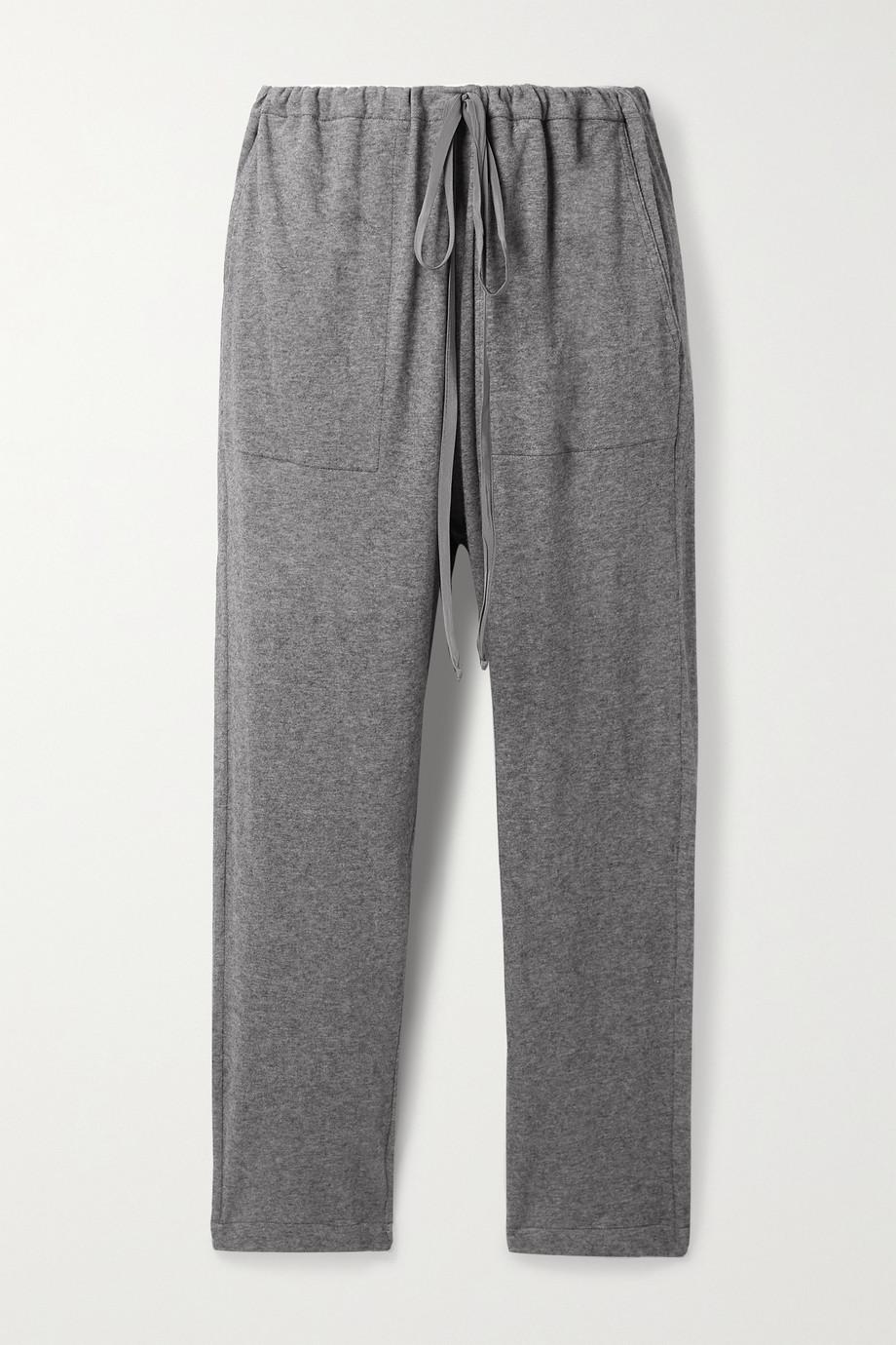 Frances de Lourdes Bailey cotton and cashmere-blend track pants