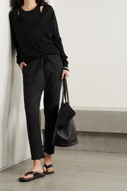 Frances de Lourdes Bailey cotton and cashmere-blend track pants