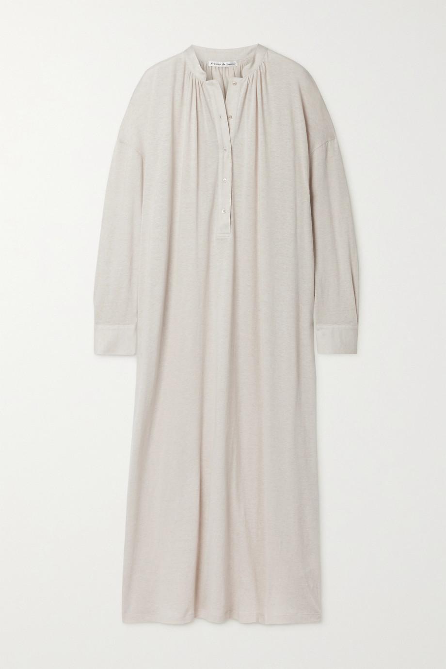 Frances de Lourdes Robe longue en coton et cachemire mélangés Aarons