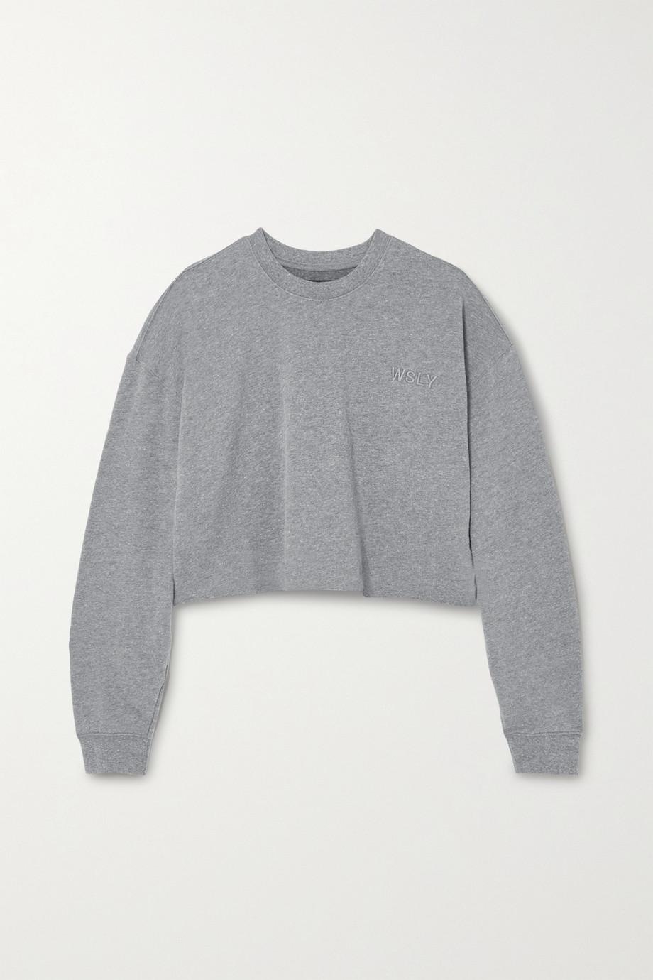 WSLY The Ecosoft cropped organic cotton-blend jersey sweatshirt