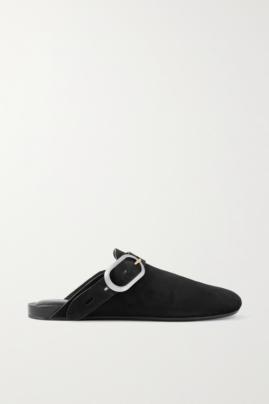 rag & bone Ansley buckled suede slippers