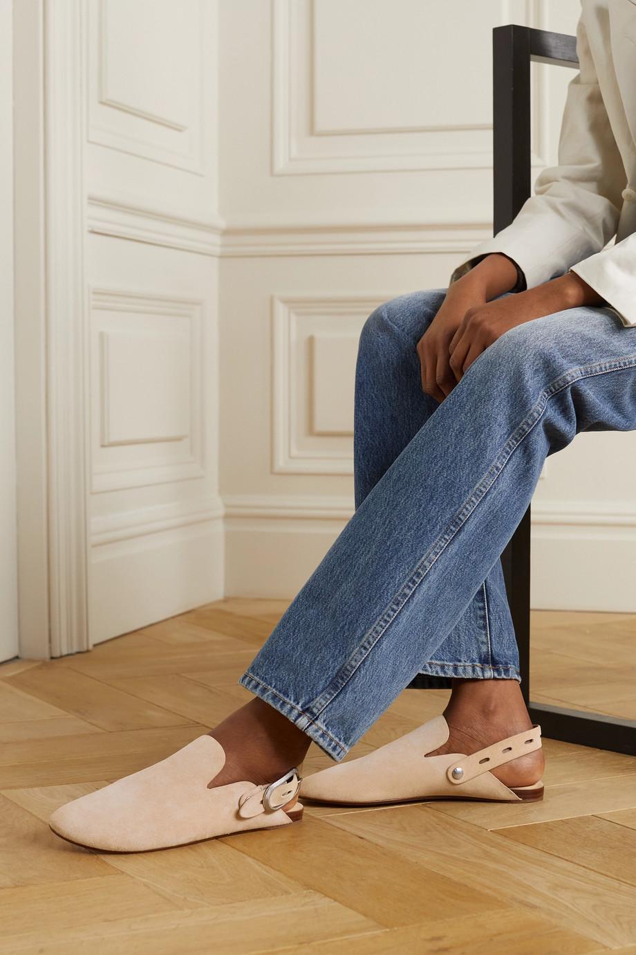 rag & bone Ansley Slippers aus Veloursleder mit Schnalle