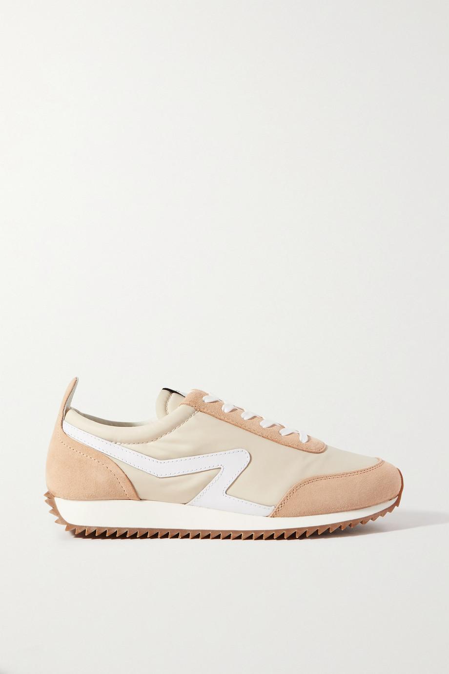 rag & bone Retro Runner Sneakers aus recyceltem Shell mit Besätzen aus Veloursleder und Leder