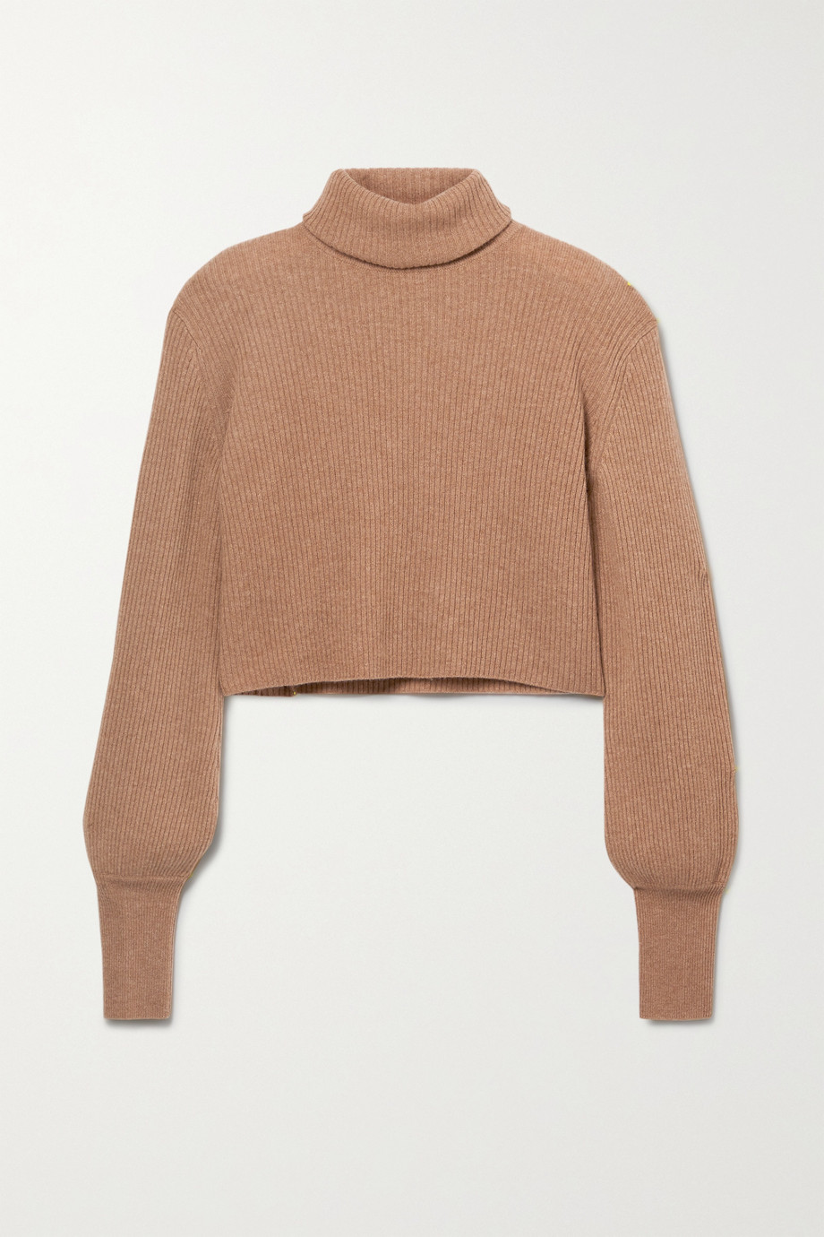 Reformation Luisa cropped ribbed recycled cashmere-blend turtleneck sweater