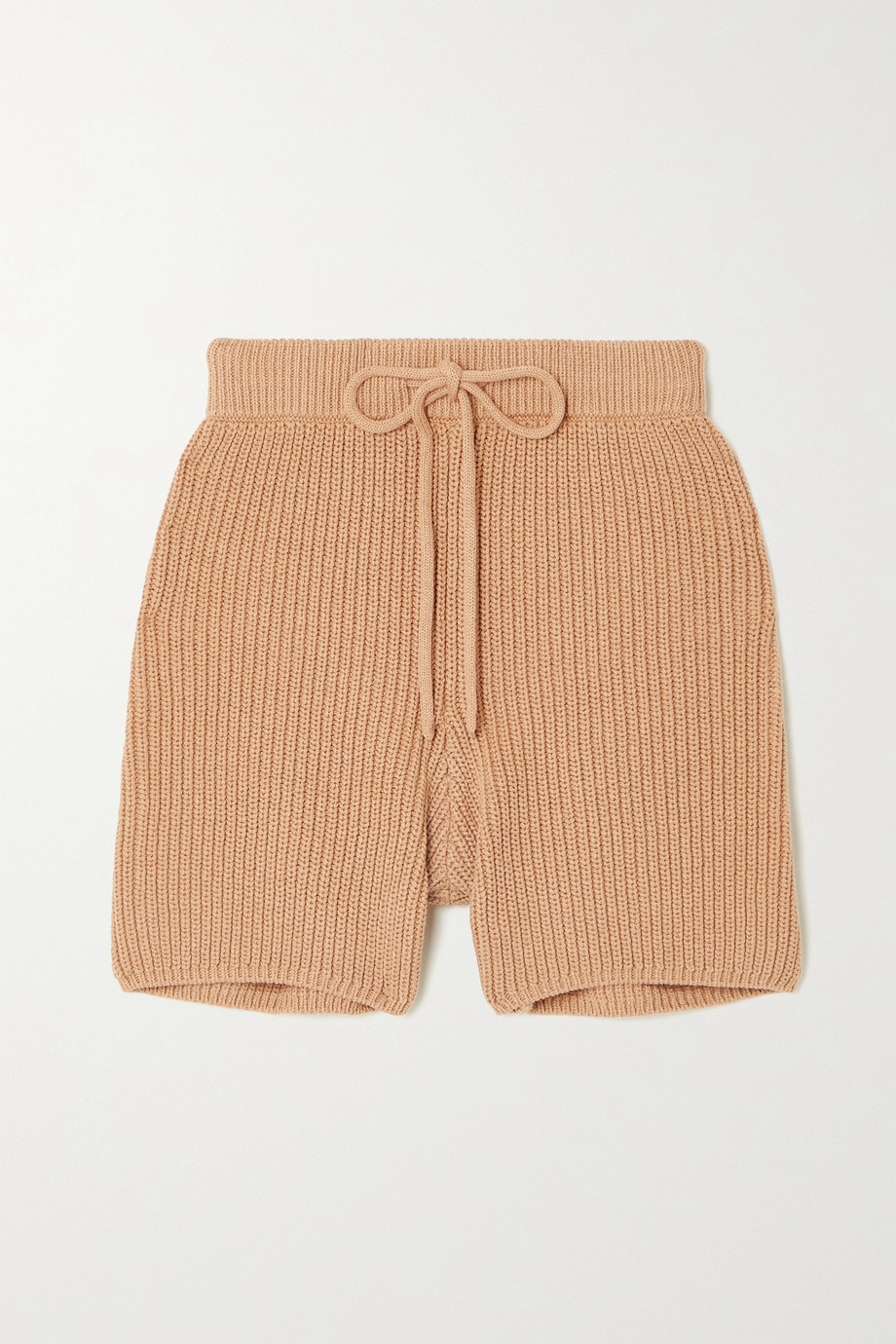 Reformation Sanzo ribbed cotton shorts