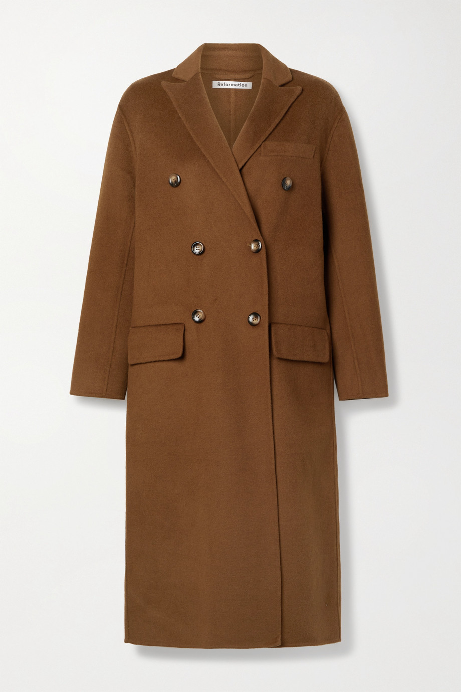 Reformation Hayden double-breasted felt coat