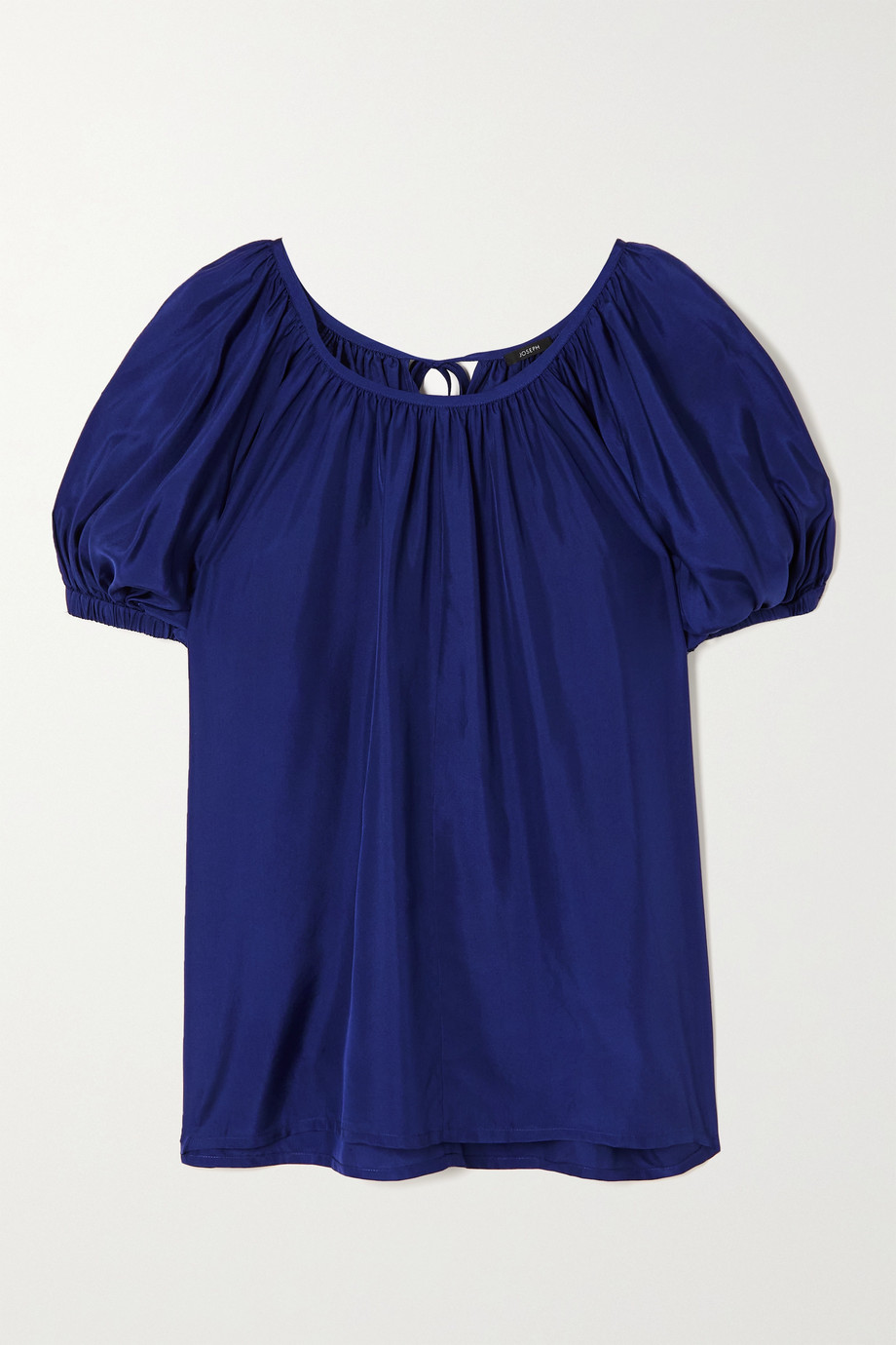 Joseph Baidy gathered silk-habotai blouse