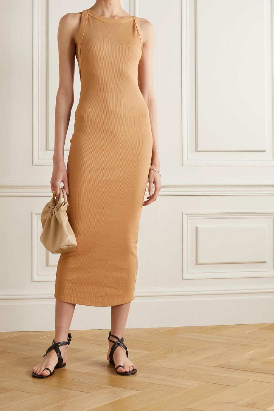 The Line By K Maribel open-back ribbed stretch-cotton jersey midi dress