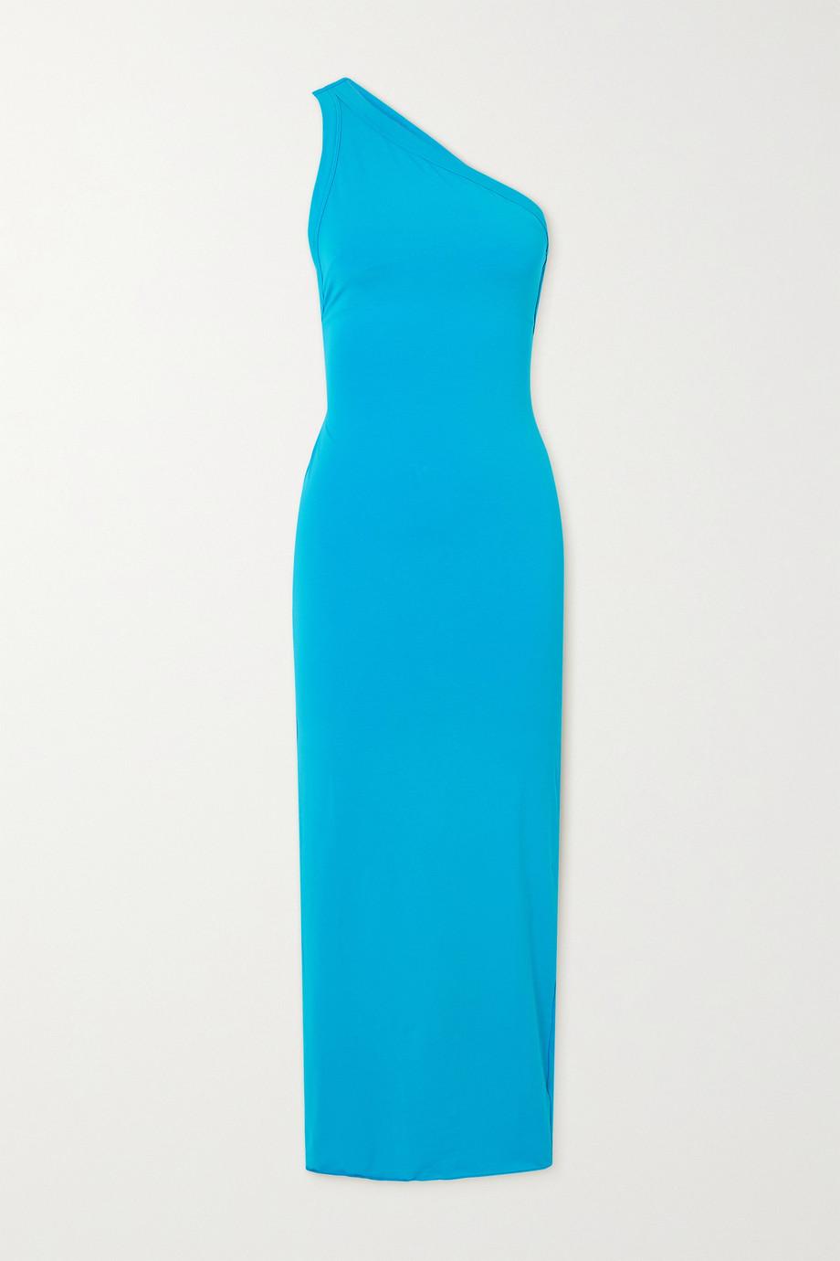 The Line By K Avalon one-shoulder stretch-cotton and modal-blend jersey midi dress