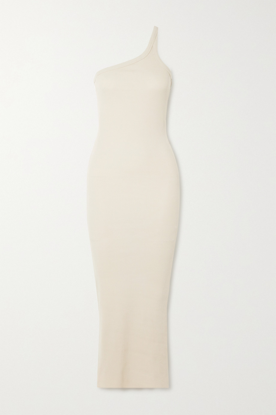 The Line By K Gael one-shoulder cutout ribbed stretch-cotton maxi dress