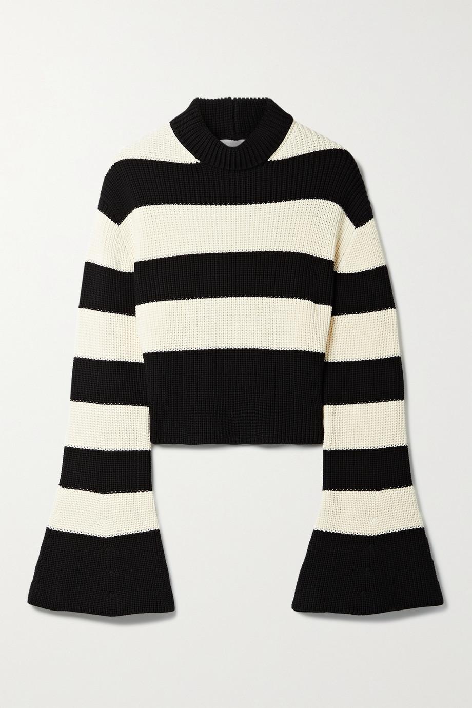 TRE by Natalie Ratabesi The Alice verkürzter Pullover aus Baumwolle mit Streifen