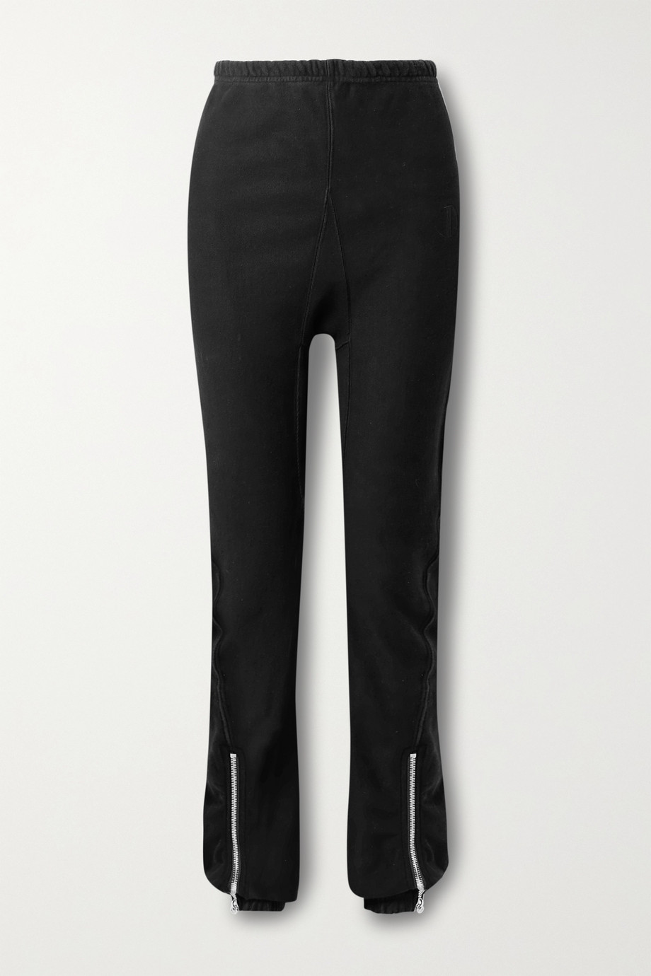 TRE by Natalie Ratabesi The Editor zip-detailed cotton-jersey track pants