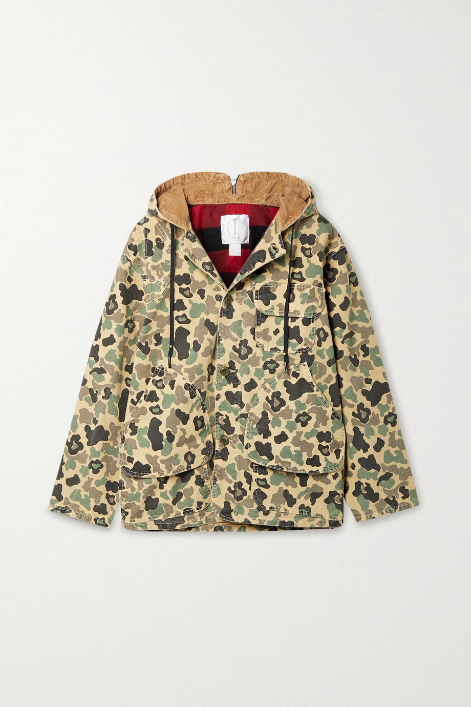 TRE by Natalie Ratabesi The Landing camouflage-print cotton-canvas hooded coat