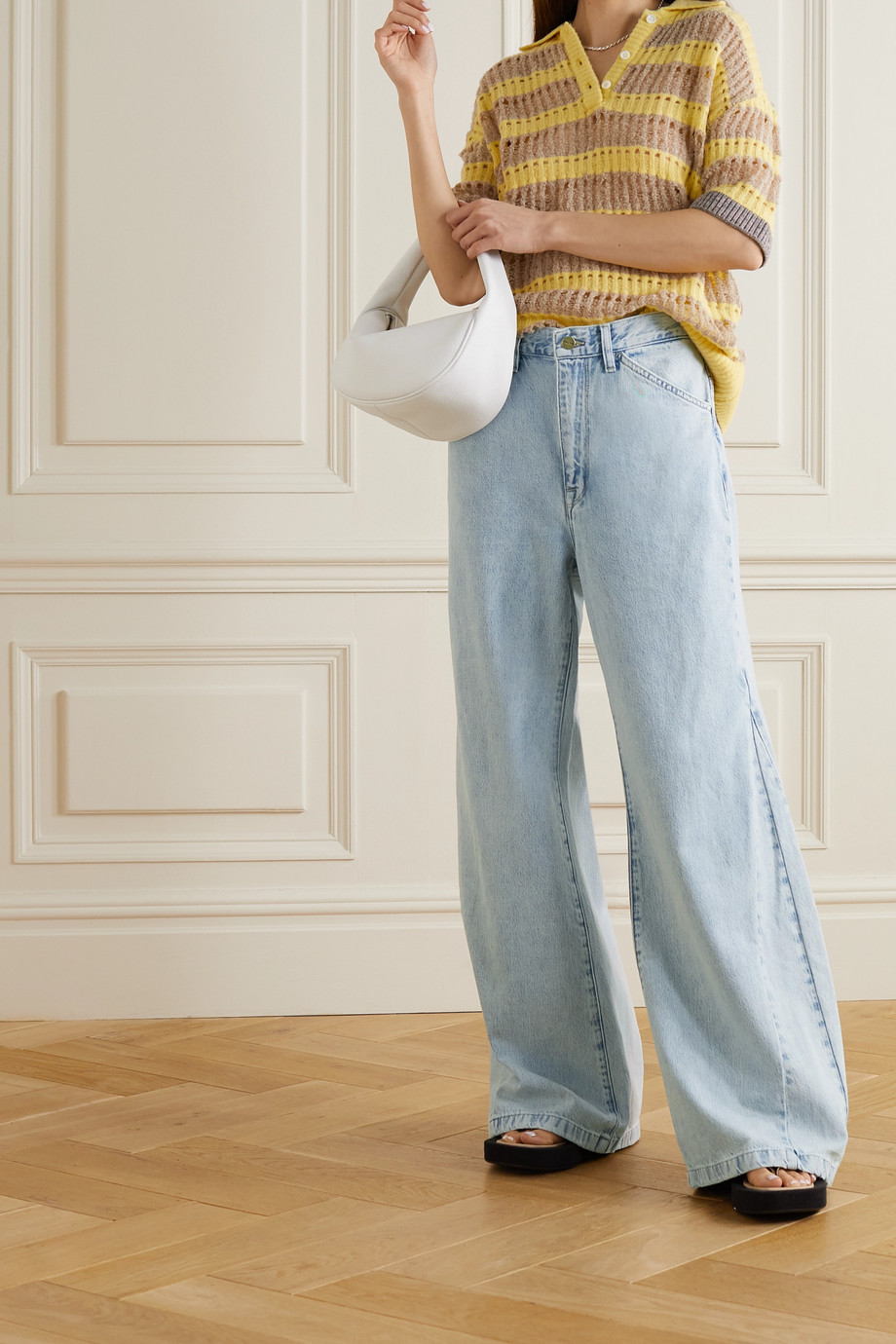 FRAME Jean large taille haute Le Baggy