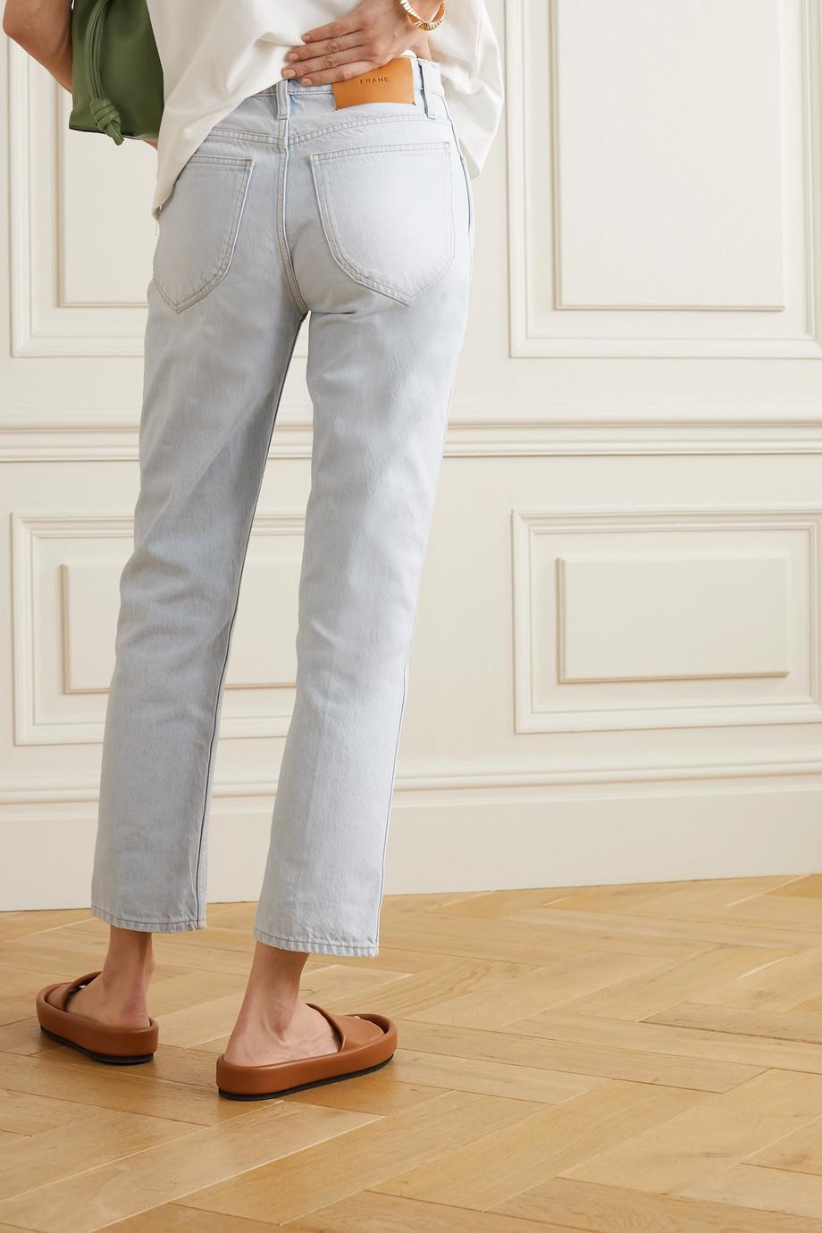 FRAME Le Italien high-rise straight-leg jeans