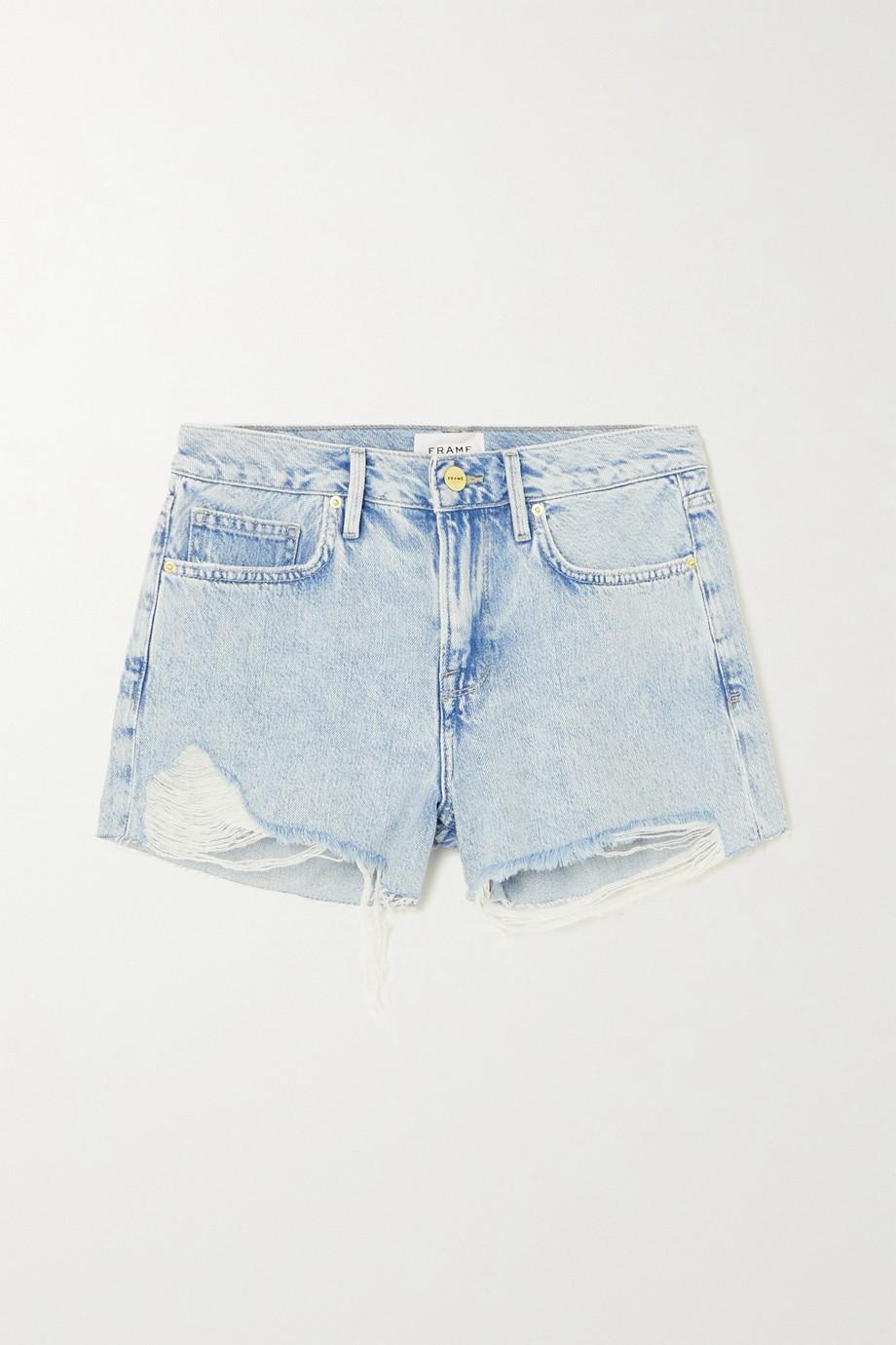 FRAME Short en jean effet vieilli Le Brigette