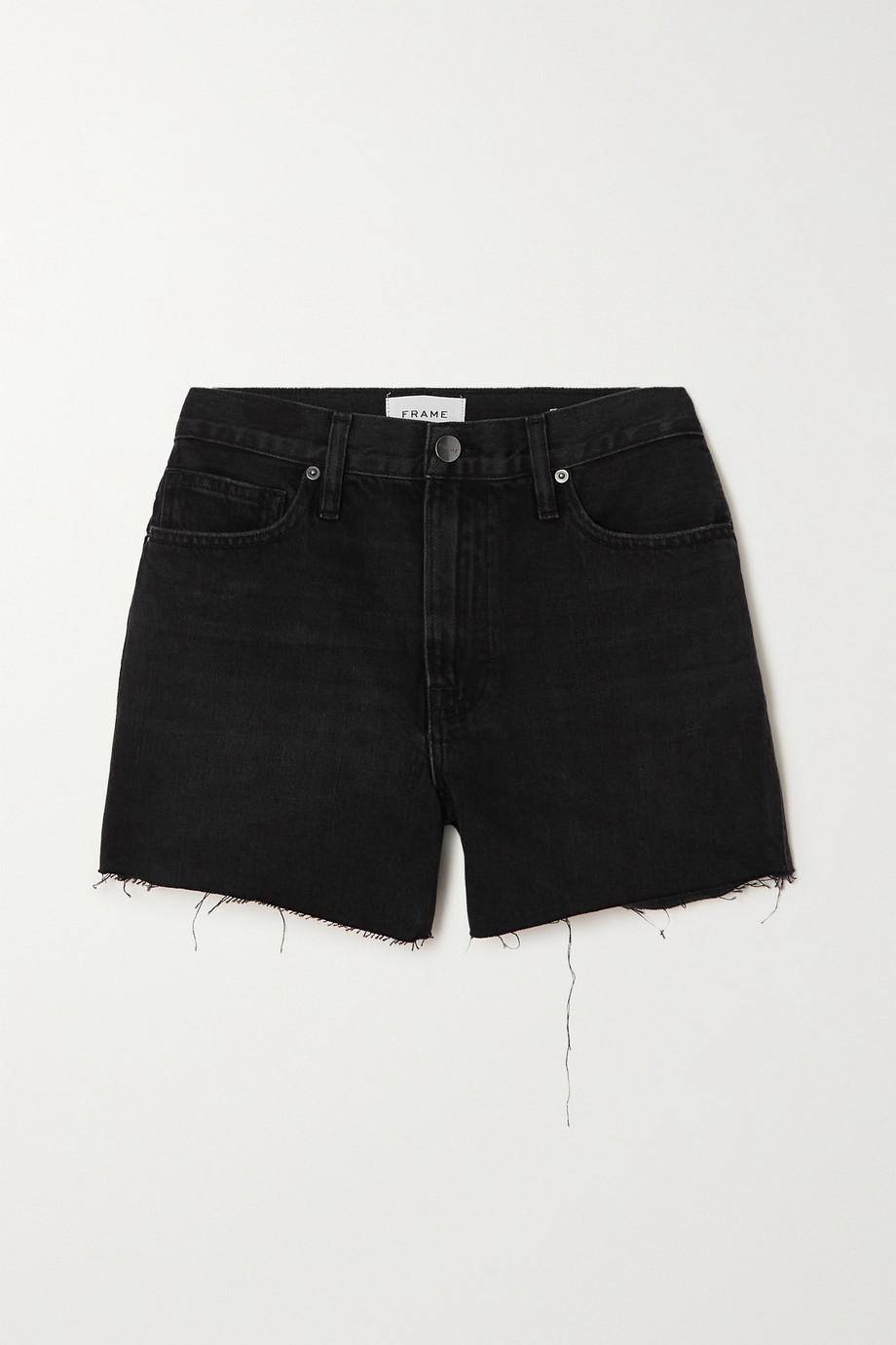FRAME Le Simone distressed denim shorts