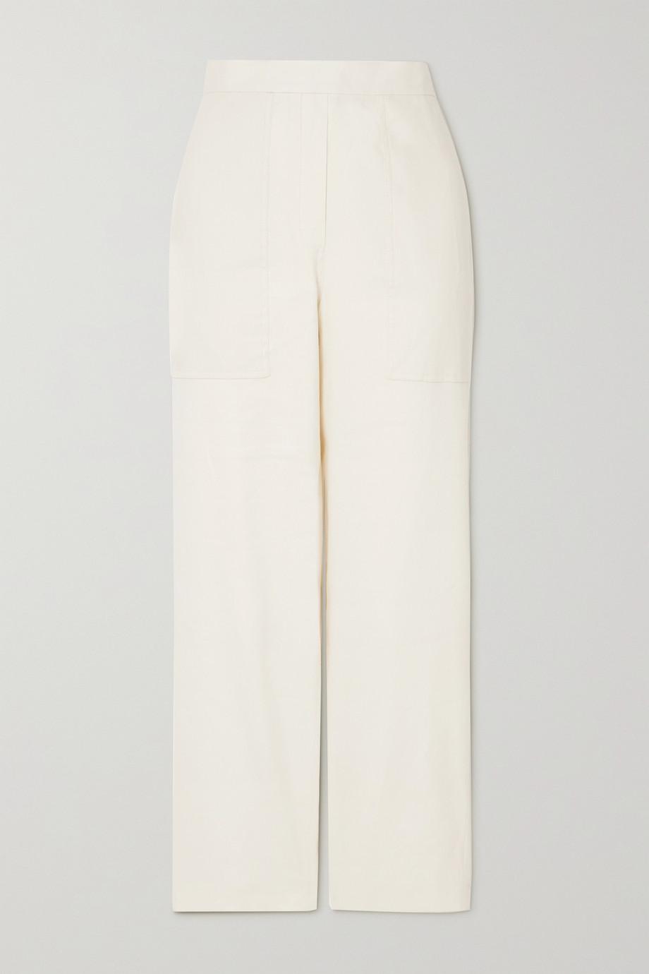 FRAME Pantalon droit en lin biologique mélangé