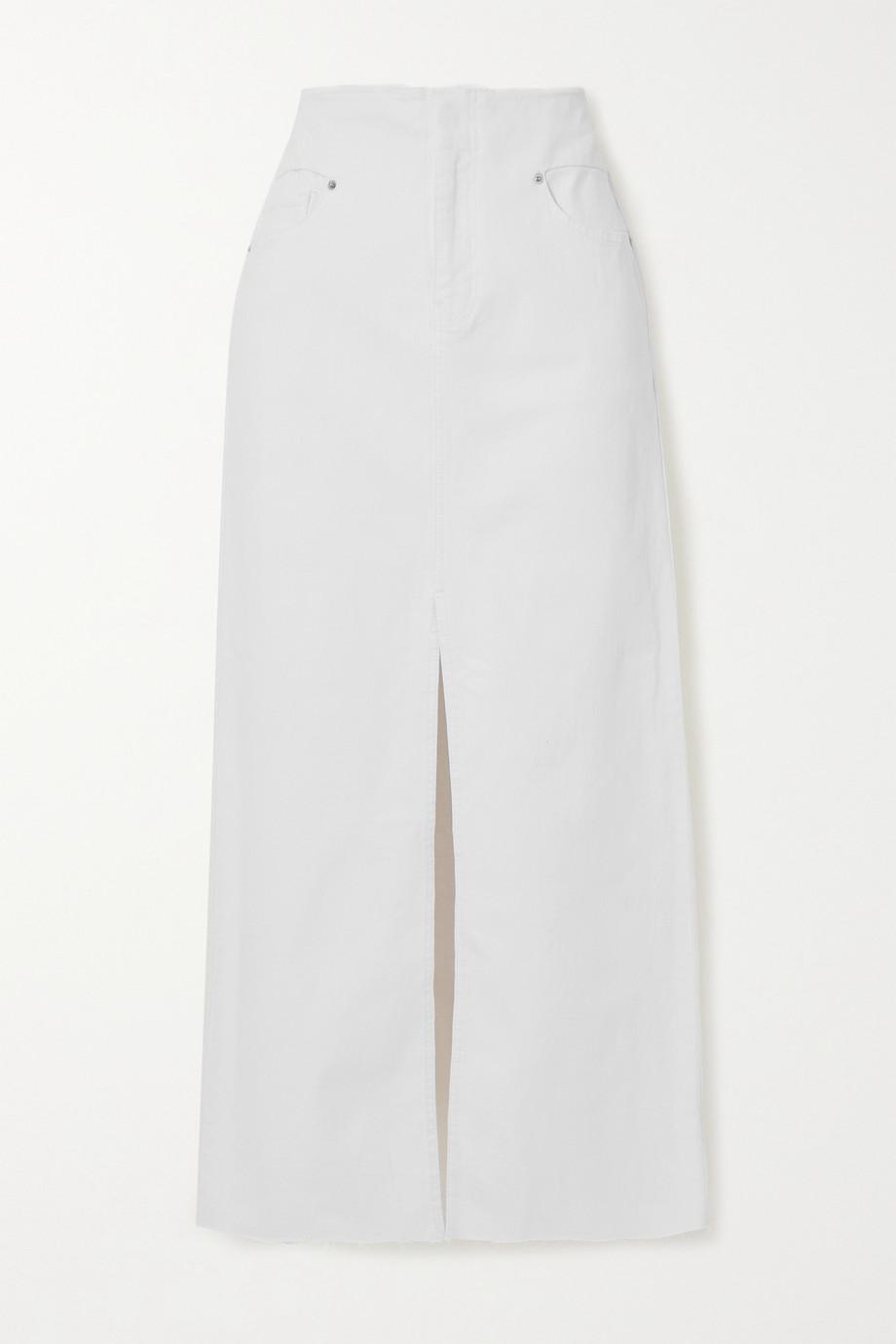 FRAME Jupe longue en jean stretch effilé
